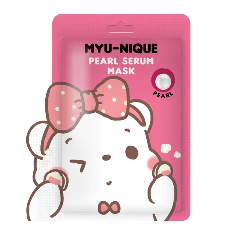 MYU-NIQUE PEARL SERUM MASK (มาส์กหน้าหมีชมพู) 25 g. ราคาส่งถูกๆ W. 75 รหัส Fm90