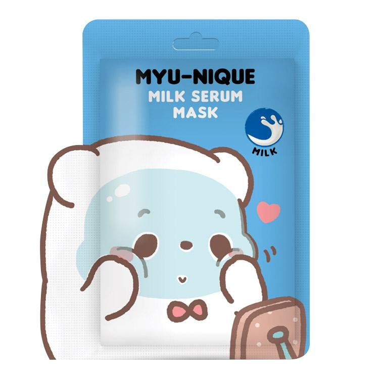 MYU-NIQUE MILK SERUM MASK (มาส์กหน้าหมีฟ้า) 25 g. ราคาส่งถูกๆ W. 75 รหัส Fm91