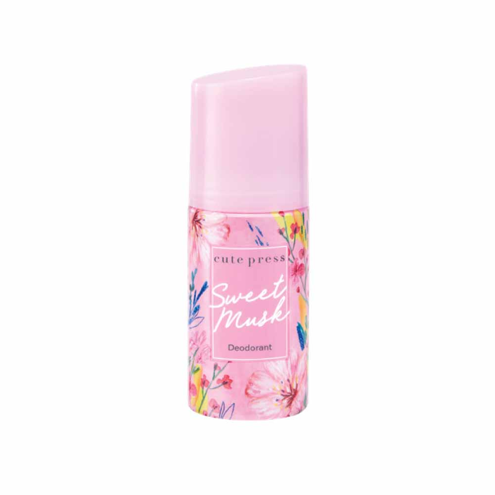 Cute press Sweet Musk Deodorant โรลออน คิวท์เพรส สวีท มัสค์ ระงับกลิ่นกาย W.130 รหัส.BD687