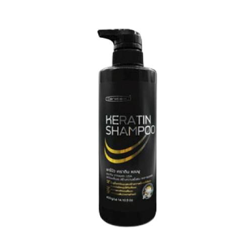 H297 แชมพูเคราตินเคลือบแก้ว แคร์บิว Carebeau Hair Shampoo Keratin 400กรัม W.450 รหัส.H297