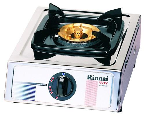 เตาแก๊สสแตนเลสทั้งตัว หัวเตาทองเหลือง เตาเแก๊สตั้งโต๊ะหัวเดียว Rinnai รุ่น RY-9001SS