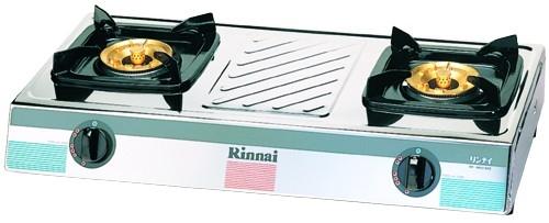 เตาแก๊สตั้งโต๊ะ 2 หัวเตา สแตนเลสทั้งตัว หัวเตาทองเหลือง Rinnai รุ่น RY-9002SSC