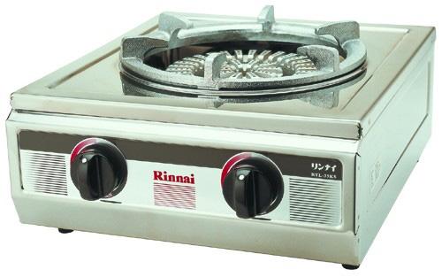 เตาแก๊สตั้งโต๊ะเดี่ยว หัวเตาใหญ่ สแตนเลสทั้งตัว RINNAI รุ่น RTL-35KS