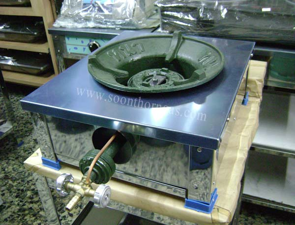 เตาแก๊สแรงดันสูง KB5 1 หัวเตา แบบตั้งโต๊ะเดี่ยว สแตนเลสทั้งตัว HAT-831