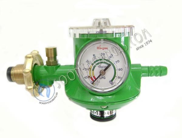 หัวปรับแก๊สแรงดันต่ำ HIGAS รุ่น HL-904A (Safety) ระบบเซฟตี้,ตั้งเวลา,เกจ์วัดแรงดัน