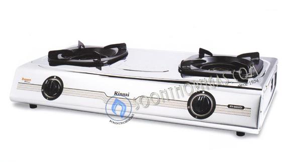เตาแก๊สตั้งโต๊ะ 2 หัว หัวเตาสแตนเลส Rinnai รุ่น RY-9002Di (Dragon Burner)