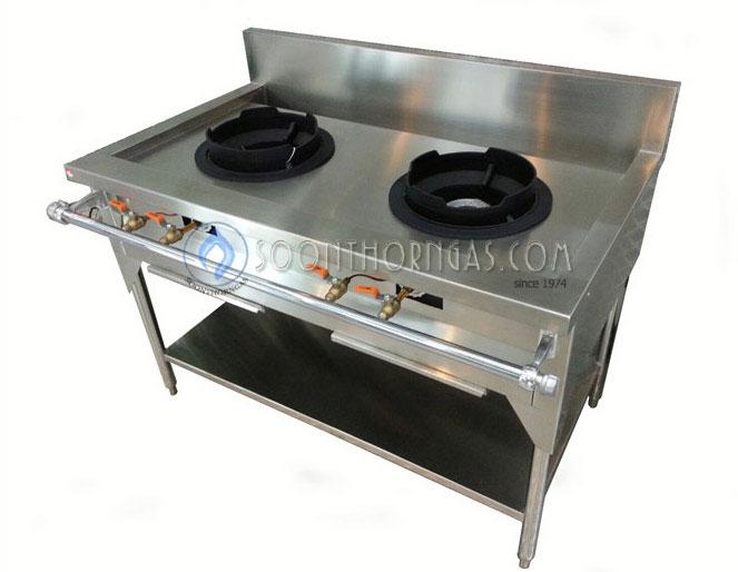 เตาครัวไทย KB5 2 หัว สแตนเลสทั้งตัว 100 Model. ST-GH200