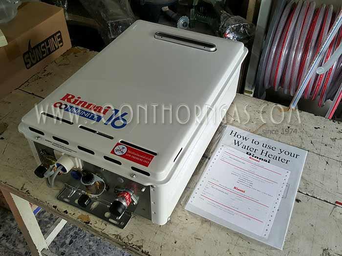 เครื่องทำน้ำร้อนแก๊ส RINNAI INFINITY 16 รุ่น REU-VR1620WG-ASN