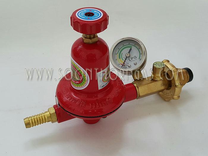 หัวปรับแก๊สแรงดันสูง ระบบเซฟตี้, เกจ์วัดแรงดันแก๊ส HIGAS รุ่น HH380SG (Safety)
