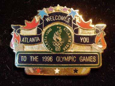 สินค้าที่ระลึก เข็มกลัด Olympic Games Atlanta 1996 1