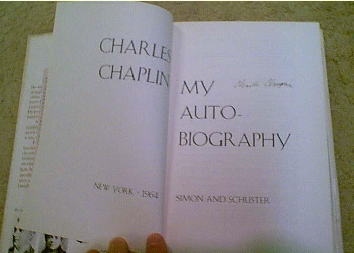 รายเซ็น CHARLIE CHAPLIN : Book MY AUTOBIOGRAPHY 1964 Book Signed Autograph Photos 1