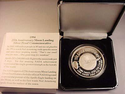 เหรียญ APOLLO 11 NASA SILVER ROUND 1969-1994