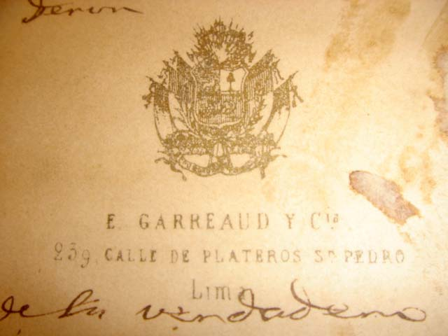 Old Photo Bishop, Cardinal with inscription and signed 4