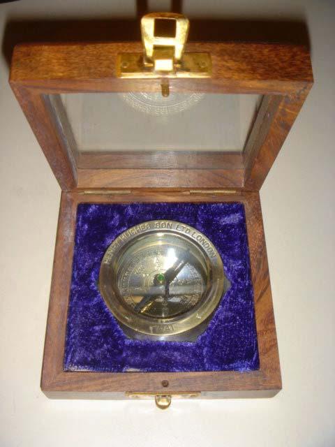 เข็มทิศเก่า Brass Desk Compass (ขนาดใหญ๋)