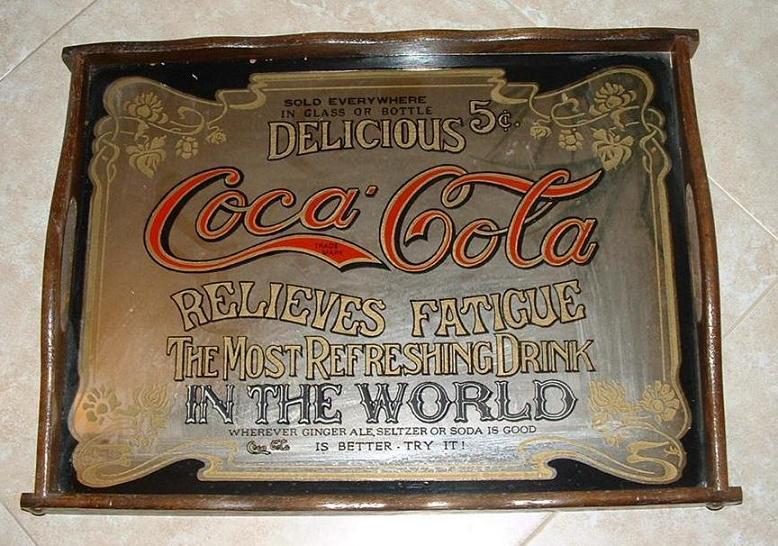 ถาดใส่อาหาร จาก Coca Cola (COCA-COLA TRAY MIRROR & WOOD)
