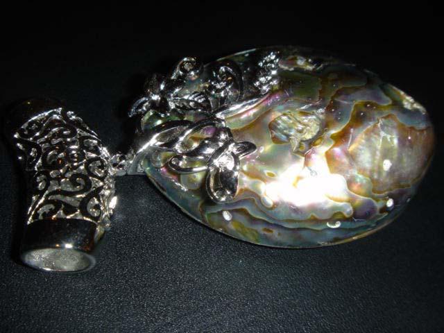 Abalone Shell Peacock Pendant Bead 3