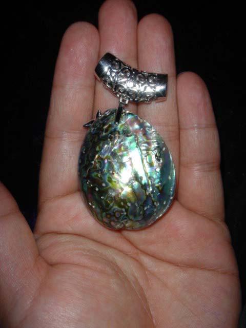 Abalone Shell Peacock Pendant Bead 5
