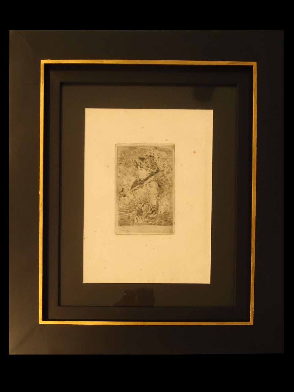 Édouard Manet (1832-1883) Jeanne. Original Etching