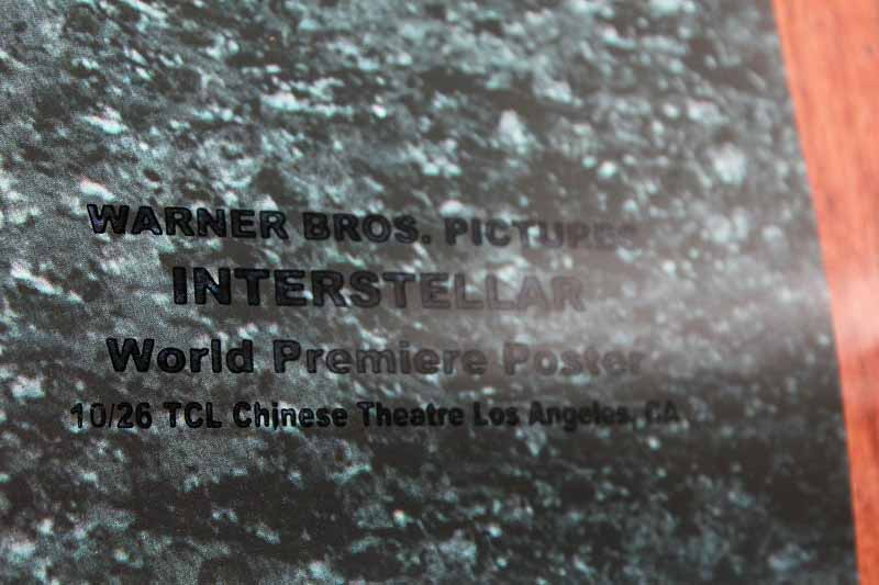 SOLD! Interstellar DS Movie Poster CAST SIGNED Premiere Autograph Poster 2