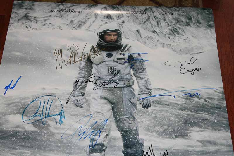 SOLD! Interstellar DS Movie Poster CAST SIGNED Premiere Autograph Poster 3