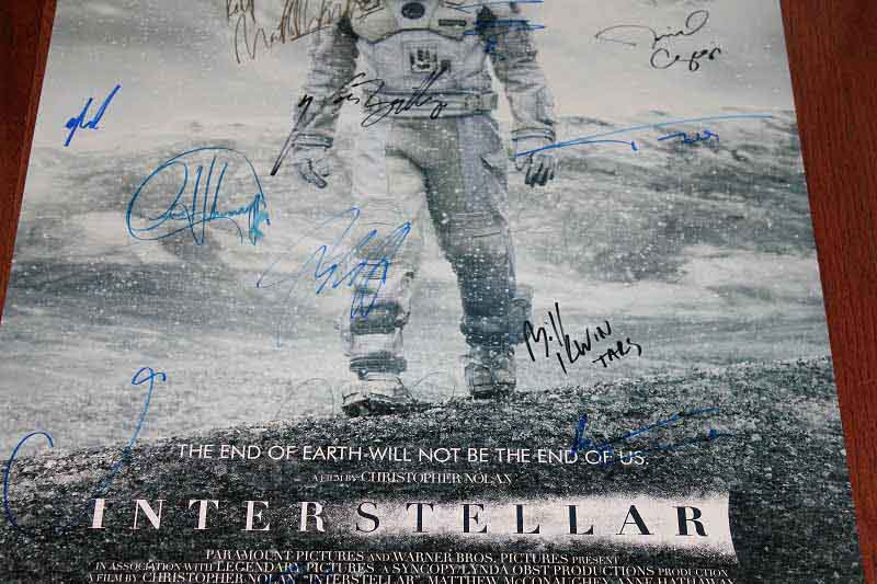 SOLD! Interstellar DS Movie Poster CAST SIGNED Premiere Autograph Poster 4