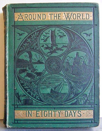 นวนิยาย 80 วันรอบโลก (Around the World in Eighty Days) ของ จูลส์ เวิร์น ฉบับปี edition, 1885