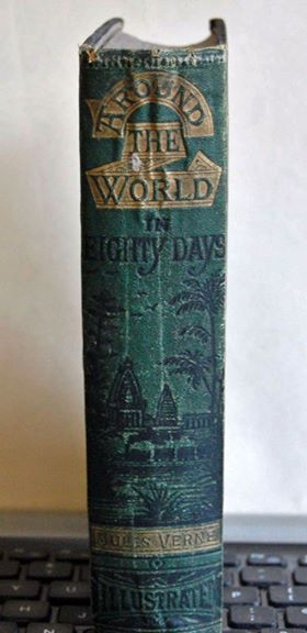 นวนิยาย 80 วันรอบโลก (Around the World in Eighty Days) ของ จูลส์ เวิร์น ฉบับปี edition, 1885 2