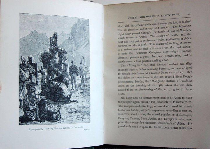 นวนิยาย 80 วันรอบโลก (Around the World in Eighty Days) ของ จูลส์ เวิร์น ฉบับปี edition, 1885 3
