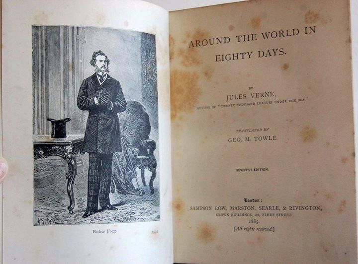 นวนิยาย 80 วันรอบโลก (Around the World in Eighty Days) ของ จูลส์ เวิร์น ฉบับปี edition, 1885 4