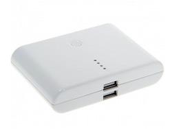 แบตเตอรี่สำรอง (ความจุ 10000 mAh) สำหรับ (MP3) สีขาว