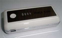 แบตเตอรี่สำรอง (ความจุ 5000 mAh) สำหรับ (MP3) สีขาว