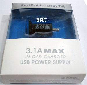 Adapter สำหรับ iPhone/iPad ชาร์จไฟในรถยนต์ (3.1A)