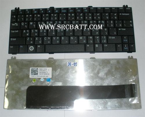 Keyboard Notebook สำหรับรุ่น Dell Mini 12/Inspiron 1210 (Dell-01) คีย์บอร์ดโน๊ตบุ๊ก