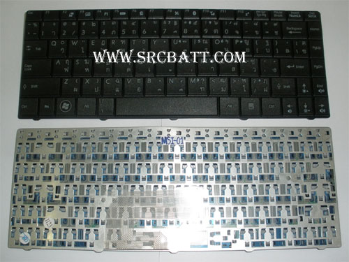 Keyboard Notebook สำหรับรุ่น MSI U210/U230/X320/X340/X400 (MSI-01) คีย์บอร์ดโน๊ตบุ๊ก