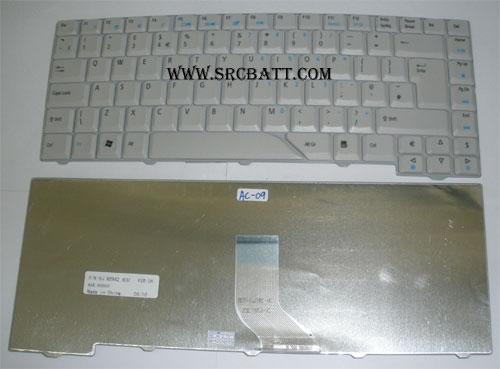 Keyboard Notebook สำหรับรุ่น Acer Aspire 4710 5920 (AC-09) คีย์บอร์ดโน๊ตบุ๊ก แถมสติ๊กเกอร์