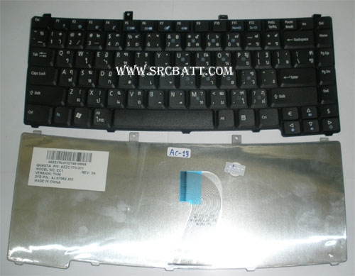 Keyboard Notebook สำหรับรุ่น Acer Travelmate 6492 6490 (AC-13) คีย์บอร์ดโน๊ตบุ๊ก