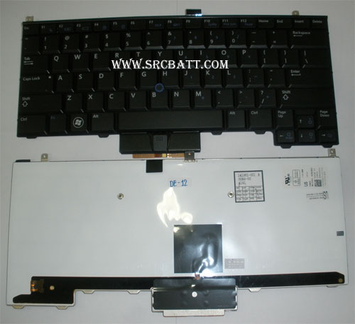 Keyboard Notebook สำหรับรุ่น Dell Latitude E4310 (Dell-12) คีย์บอร์ดโน๊ตบุ๊ก แถมสติ๊กเกอร์
