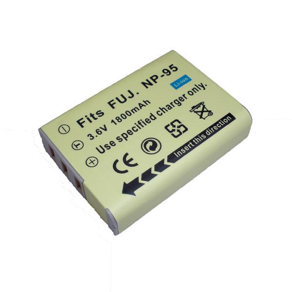 แบตเตอรี่ สำหรับกล้อง FUJI รหัสแบตเตอรี่ NP-95 ความจุ 1800mAh (Battery Camera)