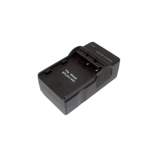 แท่นชาร์จแบตเตอรี่กล้อง Sharp รหัส BT-L221/L241 ชาร์จไฟบ้าน+ฟรีสายชาร์จในรถยนต์ (Charger Battery)