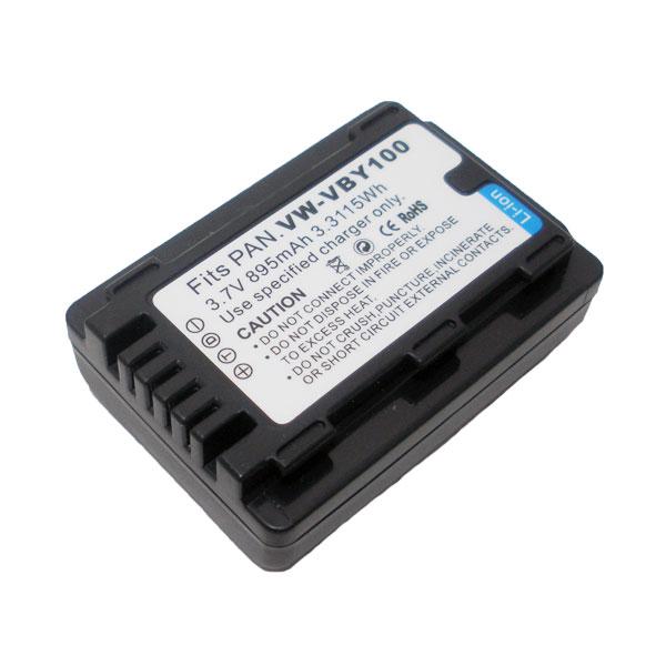 แบตเตอรี่ สำหรับกล้อง Panasonic รหัสแบตเตอรี่ VBY100 ความจุ 895mAh (Battery Camera)
