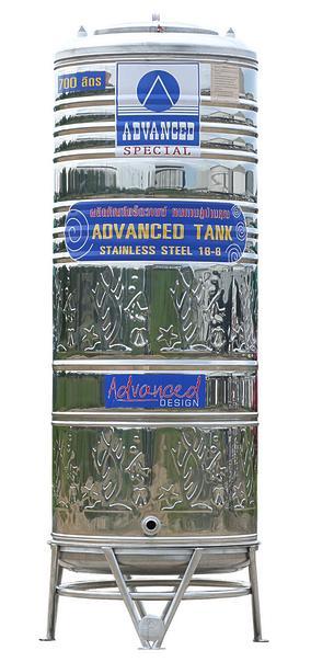 * แท๊งค์น้ำสเตนเลส * ADVANCED แอ๊ดว๊าน รุ่น AVL-700 ขนาด 700 ลิตร (มีลาย)