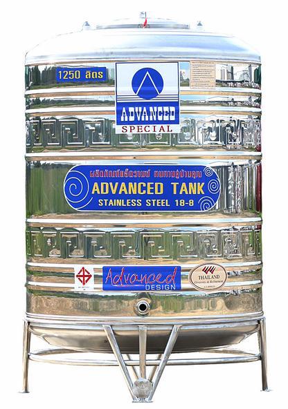 * แท๊งค์น้ำ *  ADVANCED รุ่น AVL-1250 ขนาด 1250 ลิตร (มีลาย)