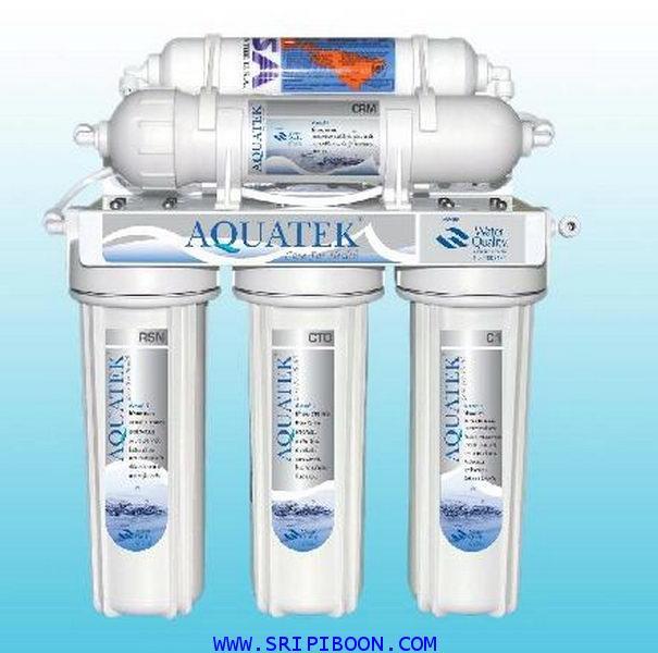 เครื่องกรองน้ำ AQUATEK อาควอเท็ค 5 ขั้นตอน Ceramic+Omnipure + อุปกรณ์ทั้งชุด