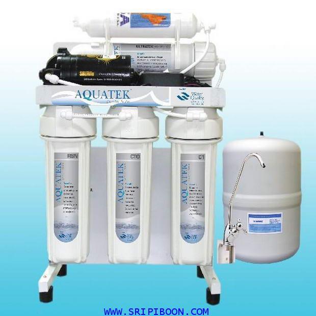 เครื่องกรองน้ำ AQUATEK อาควอเท็ค 5 ขั้นตอน ระบบ RO - 50 GPD + อุปกรณ์ทั้งชุด