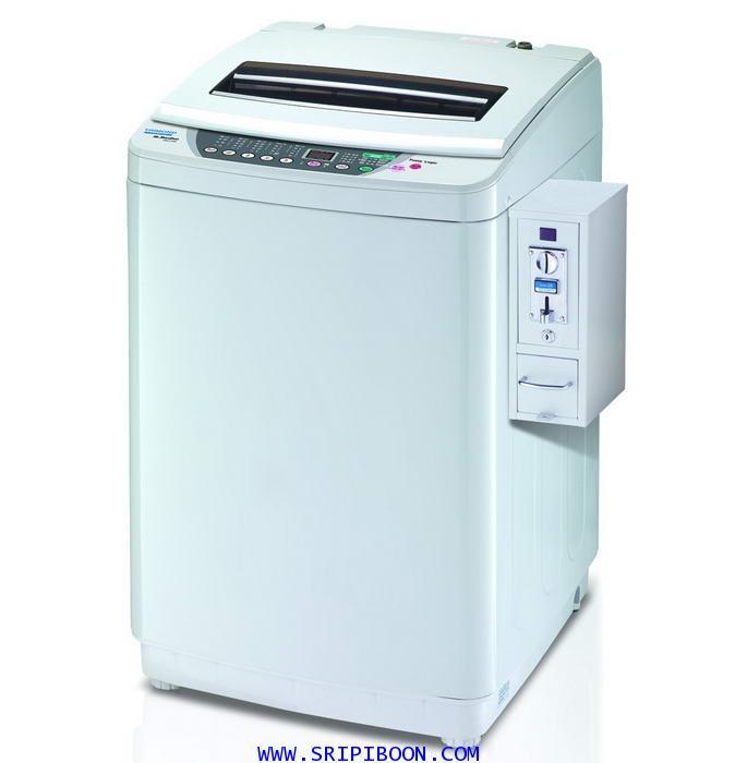 เครื่องซักผ้า หยอดเหรียญ TRIMOND ไตรมอน TWM-A100A+SM4 ขนาด 10 กก.