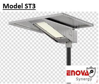 โคมไฟโซล่าเซล พลังแสงอาทิตย์ ENOVA อีโนว่า รุ่น ST- 3 (5V- 80W) ระยะความสูง 6 เมตร