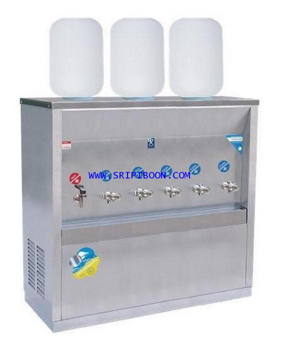 ตู้ทำน้ำเย็น-น้ำร้อน MAXCOOL แม็คคูล MCH-6P_SP ถังคว่ำ 6 ก๊อก (ร้อน1 เย็น5) 3 ถัง (แผงรังผึ้ง) E9AXX