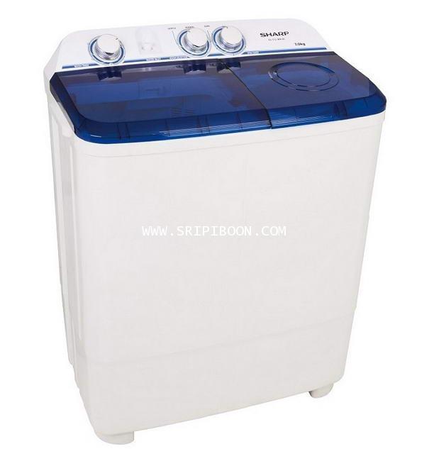 เครื่องซักผ้า SHARP ชาร์ป รุ่น ES-TT70T-BL ถังซัก 7 กิโล , ความจุถังปั่น 5.6 กิโล