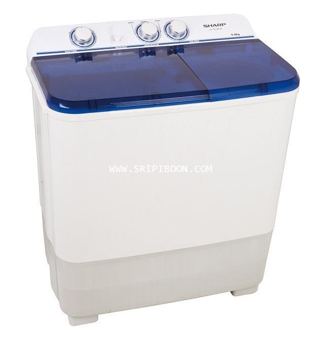เครื่องซักผ้า SHARP ชาร์ป รุ่น ES-TT90T-BL ถังซัก 9 กิโล , ความจุถังปั่น 5.6 กิโล