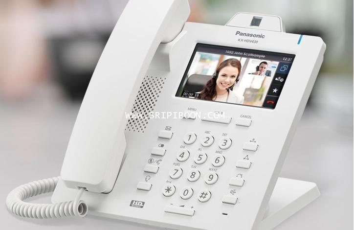 โทรศัพท์บ้าน Panasonic พานาโซนิค KX-HDV430  Executive HD IP Video Collaboration Desktop Phone